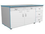 Модуль подкатной ТДЯ НВК 1500 для титровального стола НВК 1500 (1390x600x700)